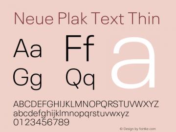 Neue Plak Text Thin 1.10, build 13, s3图片样张