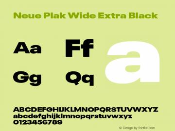 Neue Plak Wide Extra Black 1.00, build 9, s3图片样张