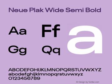 Neue Plak Wide Semi Bold 1.00, build 9, s3图片样张