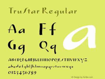 TruStar Regular Version 001.000 Font Sample