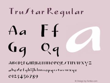TruStar Regular 001.000 Font Sample
