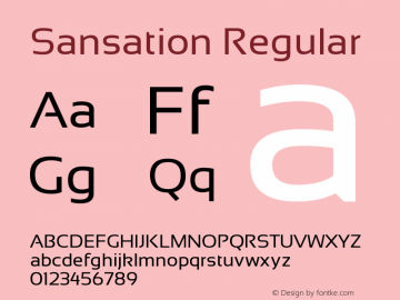 Sansation Regular Version 1.0 Font Sample