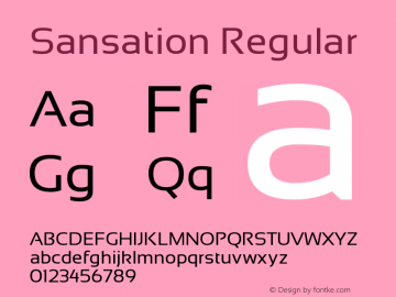 Sansation Regular Version 1.1 Font Sample