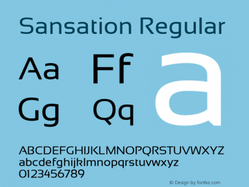 Sansation Regular Version 1.2 Font Sample