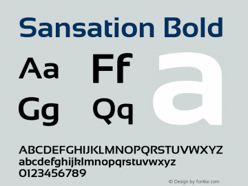 Sansation Bold Version 1.3 Font Sample