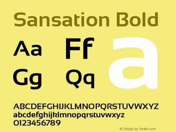 Sansation Bold Version 1.31 Font Sample