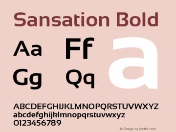 Sansation Bold Version 1.301 Font Sample