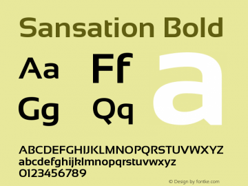Sansation Bold Version 1.301 Font Sample