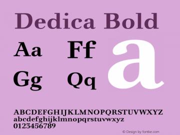 Dedica Bold Version 2.002图片样张