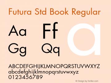 Futura Std Book Font,Futura Std Book Regular Font,Futura Std