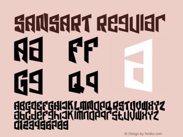 SANSART Version 1.00;June 7, 2021;FontCreator 13.0.0.2683 32-bit图片样张