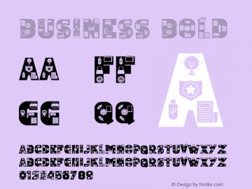Business Bold Version 1.001;Fontself Maker 3.5.4图片样张