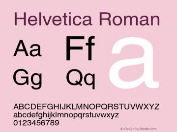 Helvetica Roman Version 1.00 Font Sample