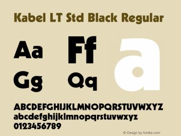 Kabel LT Std Black Font,KabelLTStd-Black Font,Kabel LT Std
