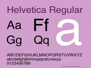 Helvetica Regular 1.0 Font Sample