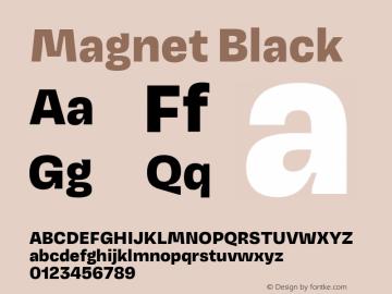Magnet Black Version 1.001;PS 1.000;hotconv 16.6.51;makeotf.lib2.5.65220图片样张