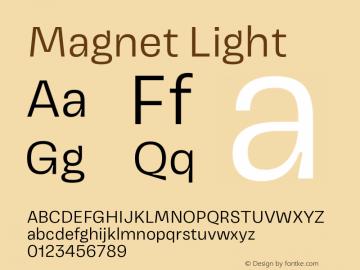 Magnet Light Version 1.001;PS 1.000;hotconv 16.6.51;makeotf.lib2.5.65220图片样张