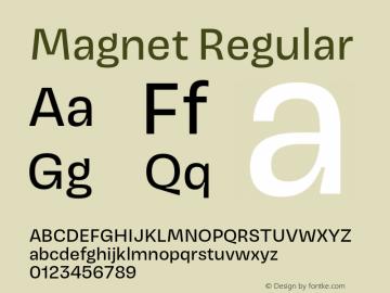 Magnet Version 1.001;PS 1.000;hotconv 16.6.51;makeotf.lib2.5.65220图片样张