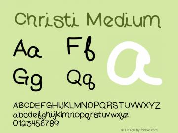 Christi Medium Version 001.000图片样张