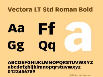 vectora lt std roman font