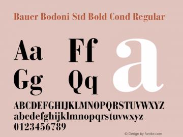 Bauer Bodoni Std Bold Cond Regular OTF 1.029;PS 001.001;Core 1.0.33;makeotf.lib1.4.1585图片样张