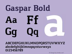 Gaspar Bold Version 1.000 2012 initial release图片样张
