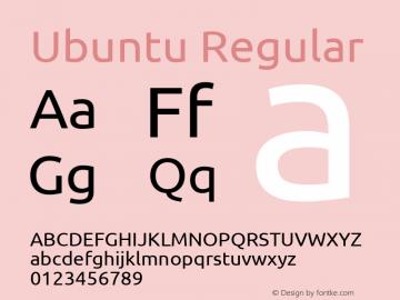 Ubuntu Regular 0.83图片样张