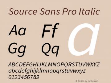 Source Sans Pro Italic Version 1.050;PS 1.000;hotconv 1.0.70;makeotf.lib2.5.5900图片样张