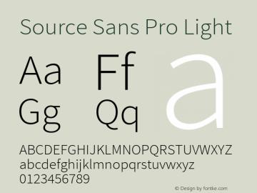 Source Sans Pro Light Regular Version 1.050;PS 1.000;hotconv 1.0.70;makeotf.lib2.5.5900图片样张