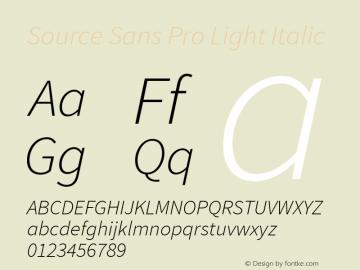 Source Sans Pro Light Italic Version 1.050;PS 1.000;hotconv 1.0.70;makeotf.lib2.5.5900图片样张
