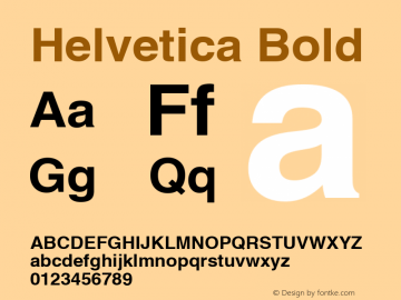 Helvetica Bold Macromedia Fontographer 4.1.5 26/2/02 Font Sample