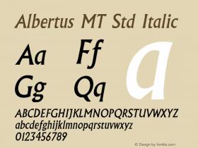 Albertus MT Std Italic Version 1.047;PS 001.001;Core 1.0.38;makeotf.lib1.6.5960图片样张