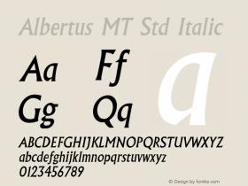 Albertus MT Std Italic Version 2.020;PS 002.000;hotconv 1.0.50;makeotf.lib2.0.16970图片样张