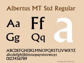 Albertus MT Std Regular Version 2.020;PS 002.000;hotconv 1.0.50;makeotf.lib2.0.16970图片样张