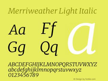 Merriweather Light Italic Version 2.006图片样张