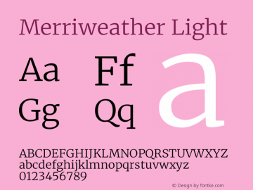 Merriweather Light Version 2.006图片样张