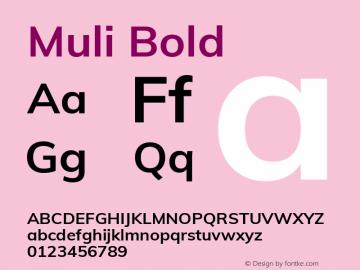 Muli Bold Version 2.000图片样张