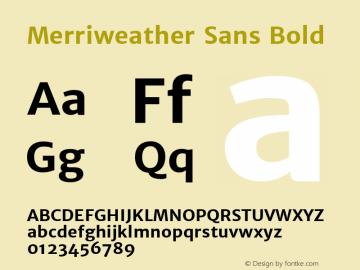 Merriweather Sans Bold Version 1.006; ttfautohint (v1.4.1) -l 6 -r 50 -G 0 -x 11 -H 220 -D latn -f none -w