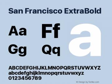 SanFrancisco-ExtraBold 11.0d33e2--BETA图片样张