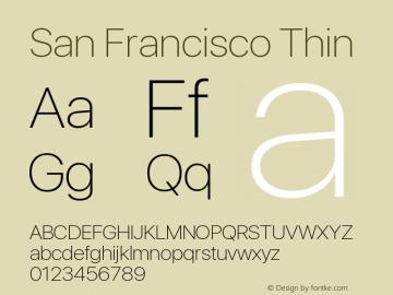SanFrancisco-Thin 11.0d33e2--BETA图片样张