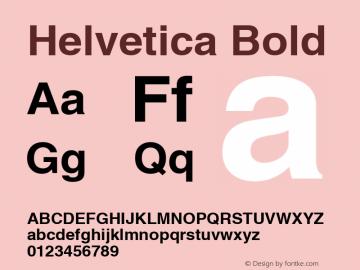 Helvetica Bold Macromedia Fontographer 4.1 3/4/2002 Font Sample