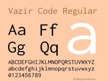 Vazir Code Version 1.1.2图片样张