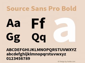 Source Sans Pro Bold Version 2.020;PS 2.0;hotconv 1.0.86;makeotf.lib2.5.63406图片样张