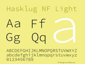 Hasklug Light Nerd Font Complete Mono Windows Compatible Version 2.032;hotconv 1.0.117;makeotfexe 2.5.65602图片样张