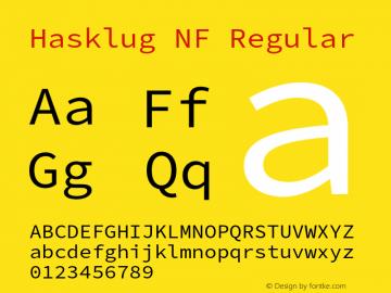 Hasklug Nerd Font Complete Mono Windows Compatible Version 2.032;hotconv 1.0.117;makeotfexe 2.5.65602图片样张