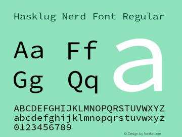 Hasklug Nerd Font Complete Version 2.032;hotconv 1.0.117;makeotfexe 2.5.65602图片样张