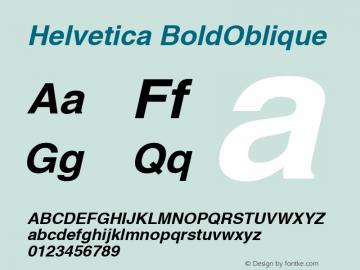 Helvetica BoldOblique Macromedia Fontographer 4.1 3/1/99 Font Sample