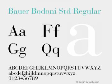 Bauer Bodoni Std Regular Version 1.040;PS 001.002;Core 1.0.35;makeotf.lib1.5.4492图片样张