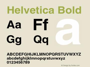 Helvetica Bold 003.001 Font Sample