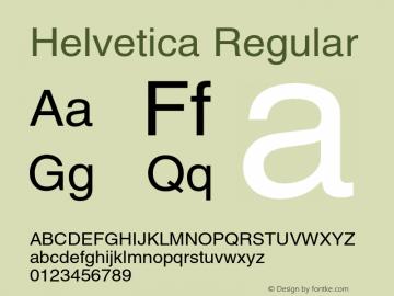 Helvetica Regular OTF 1.0;PS 003.000;Core 1.0.22 Font Sample